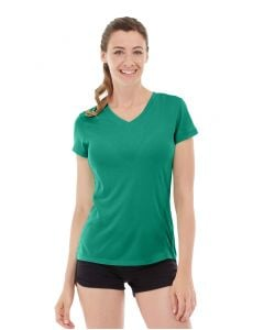 Gabrielle Micro Sleeve Top-S-Green